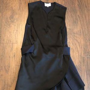 3.1 Phillip Lim Black Navy Belted Cocktail Dress 4